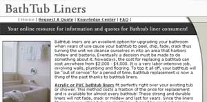 Bathtub Liners Leads